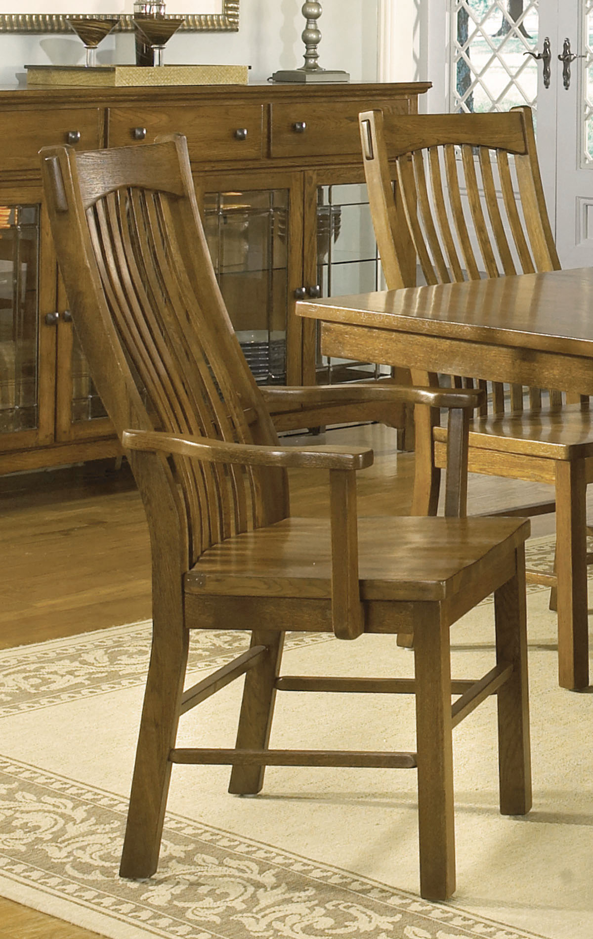 piece 60x42 extension dining room set in rustic oak efurniture mart