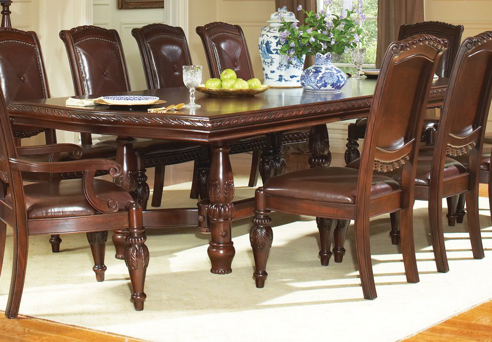 steve silver antoinette 11 piece 96x48 dining room set efurniture