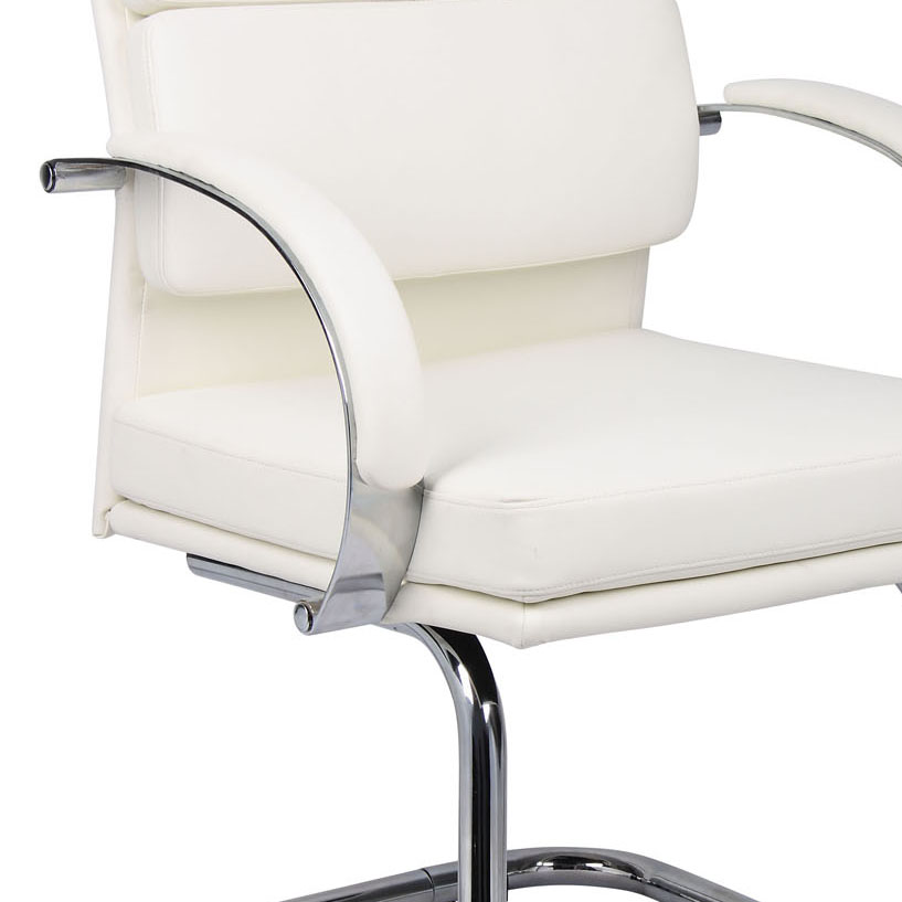 boss chairs b9409 wt caressoftplus executive guest chair in white