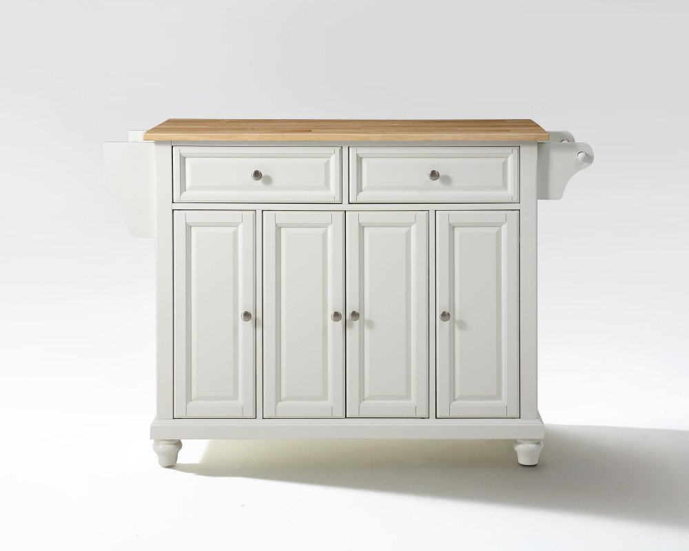 Crosley Furniture Cambridge Natural Wood Top Kitchen Island in