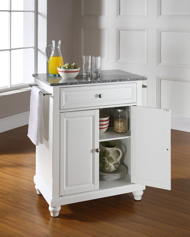 crosley furniture cambridge solid granite top portable kitchen island