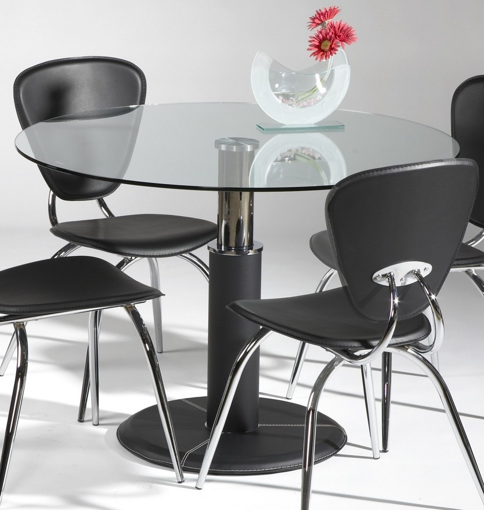 42 Inch Round Glass Dining Table Set