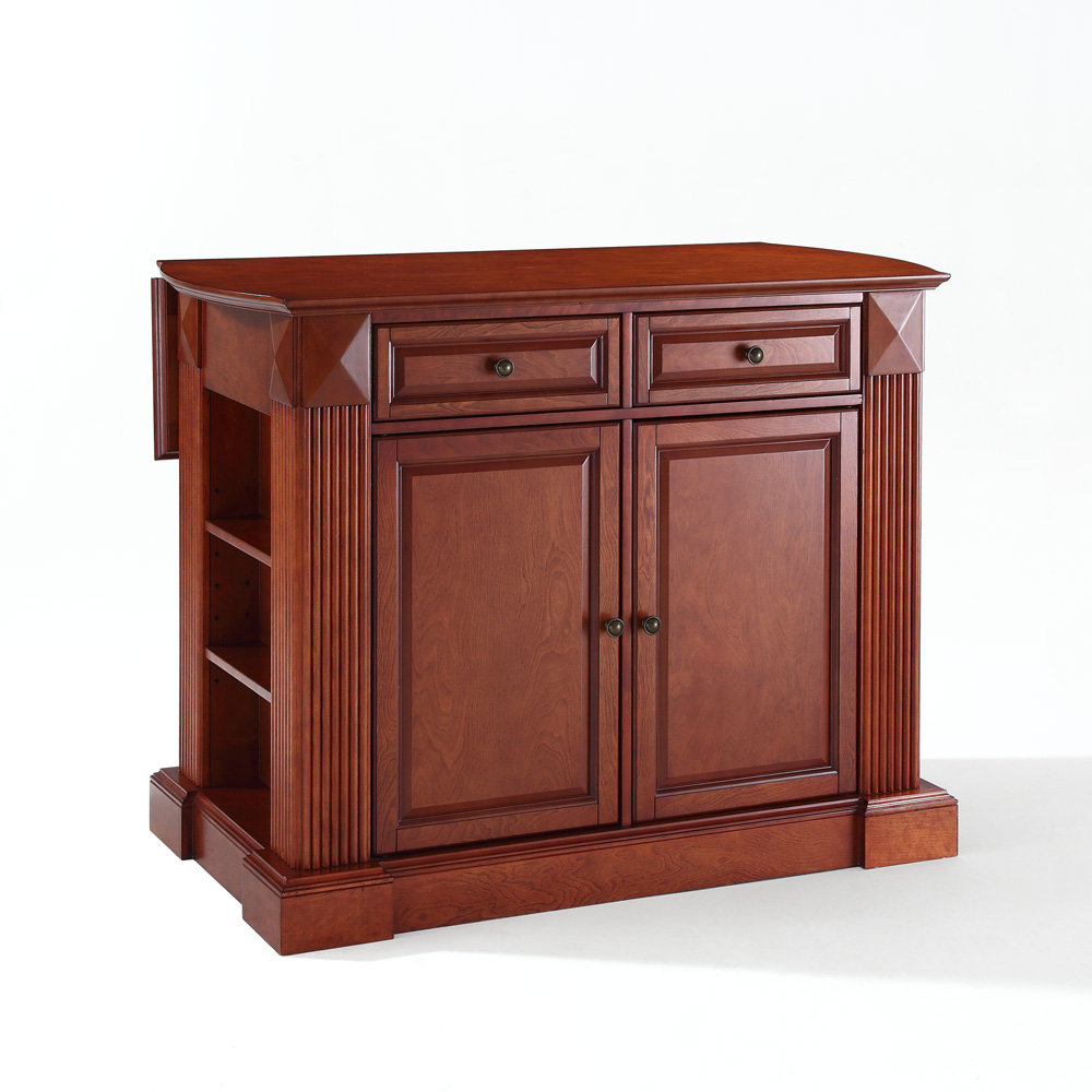 alexandria natural wood top kitchen island in white crosley crosley alexandria