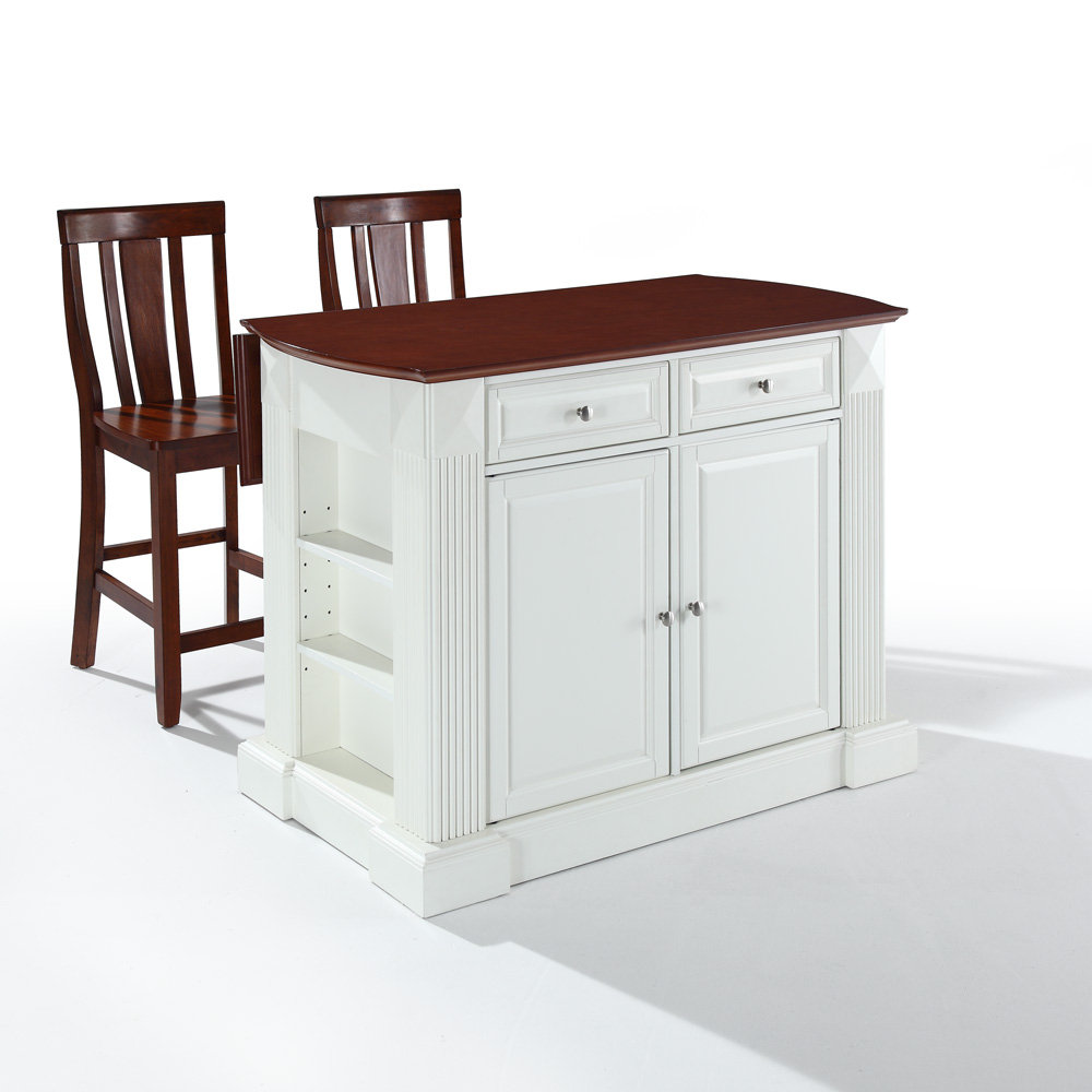 White Kitchen Islands With Breakfast Bar With Kitchen Island Drop Leaf