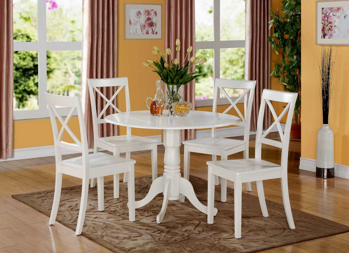 Round Kitchen Table And Chairs With Leaf The Most Drop Leaf – Round Kitchen Table with 4 Chairs