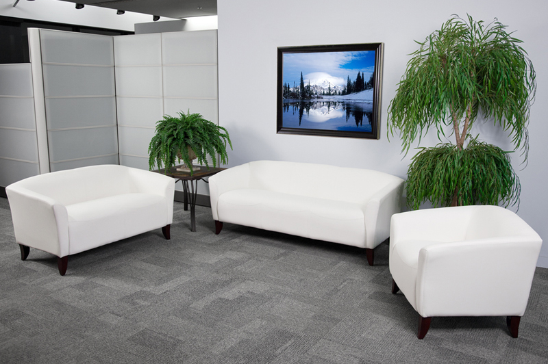 Flash Furniture HERCULES Imperial Series White Leather ...