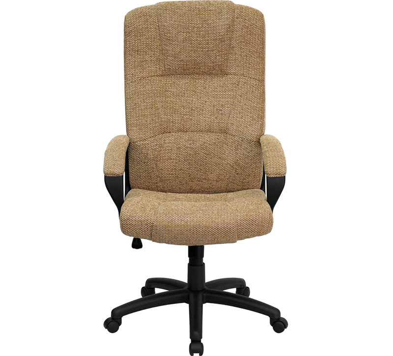 flash furniture high back beige fabric executive office