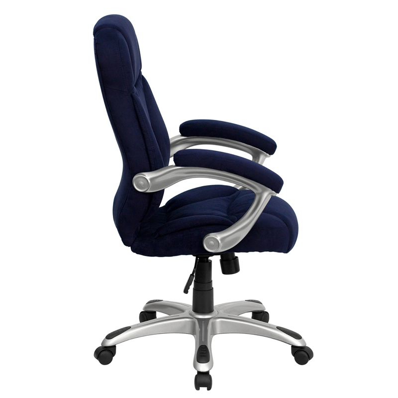 navy blue microfiber upholstered contemporary office chair furniture