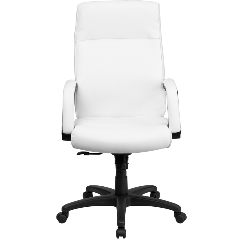 flash furniture high back white leather executive office