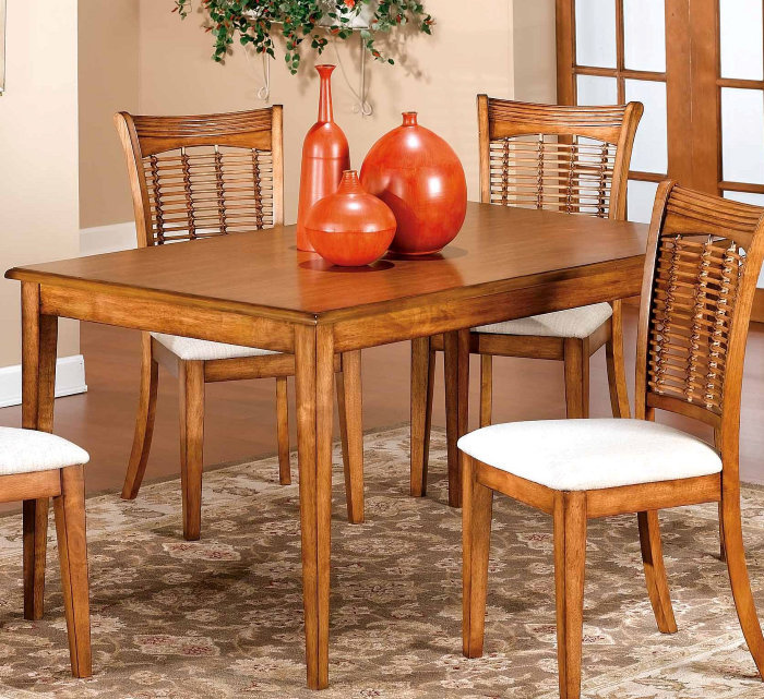 hillsdale glenmary 5 piece rectangle dining room set in