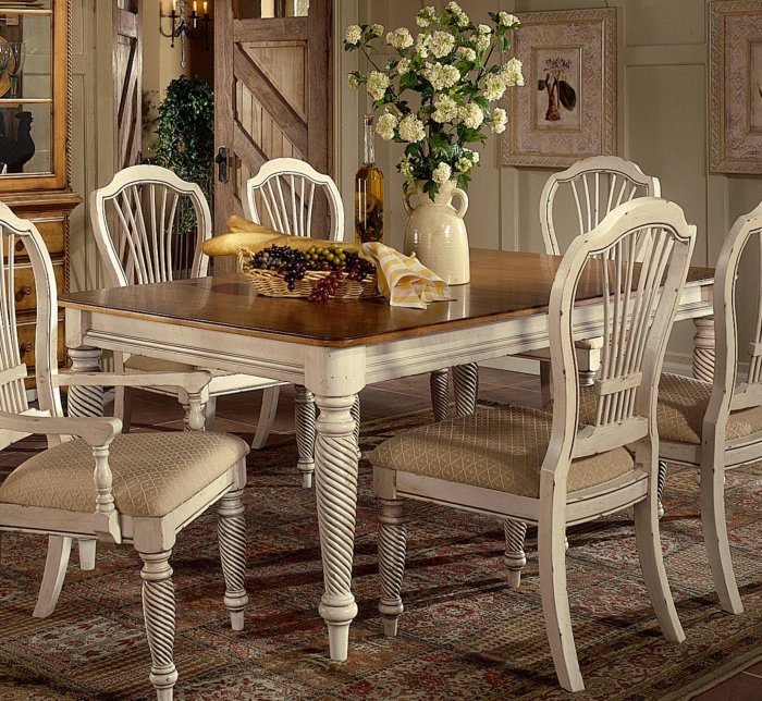 Magnificent Antique White Dining Room Sets 700 x 644 · 172 kB · jpeg