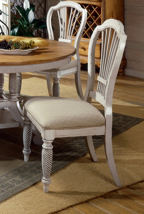 dining room set w side chairs in antique white efurniture mart