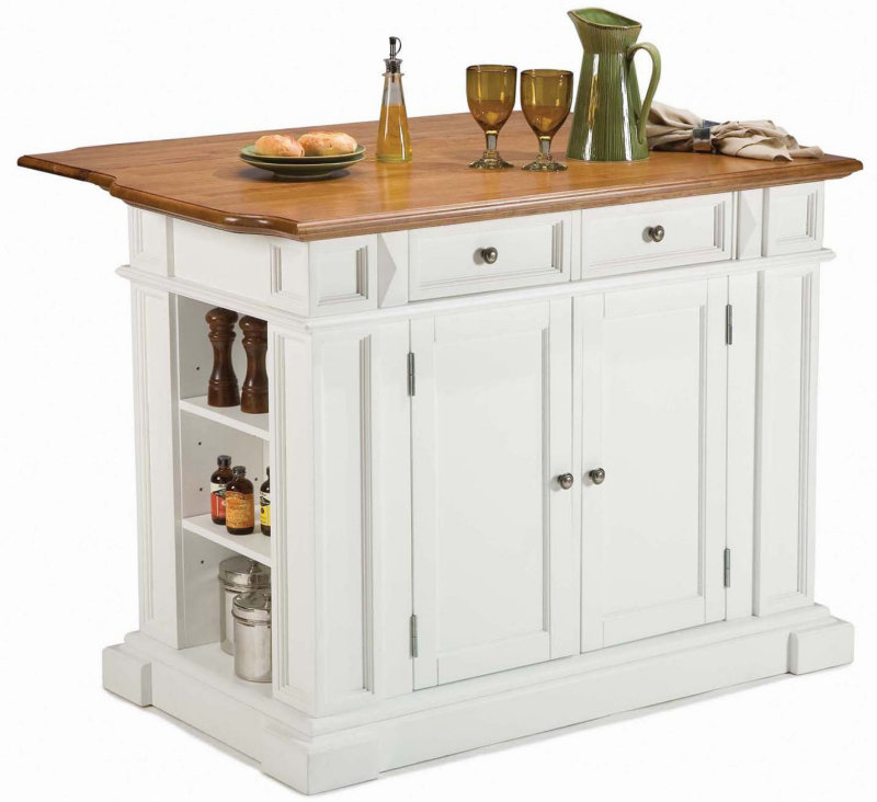 Home Styles 50x26 Kitchen Island in White