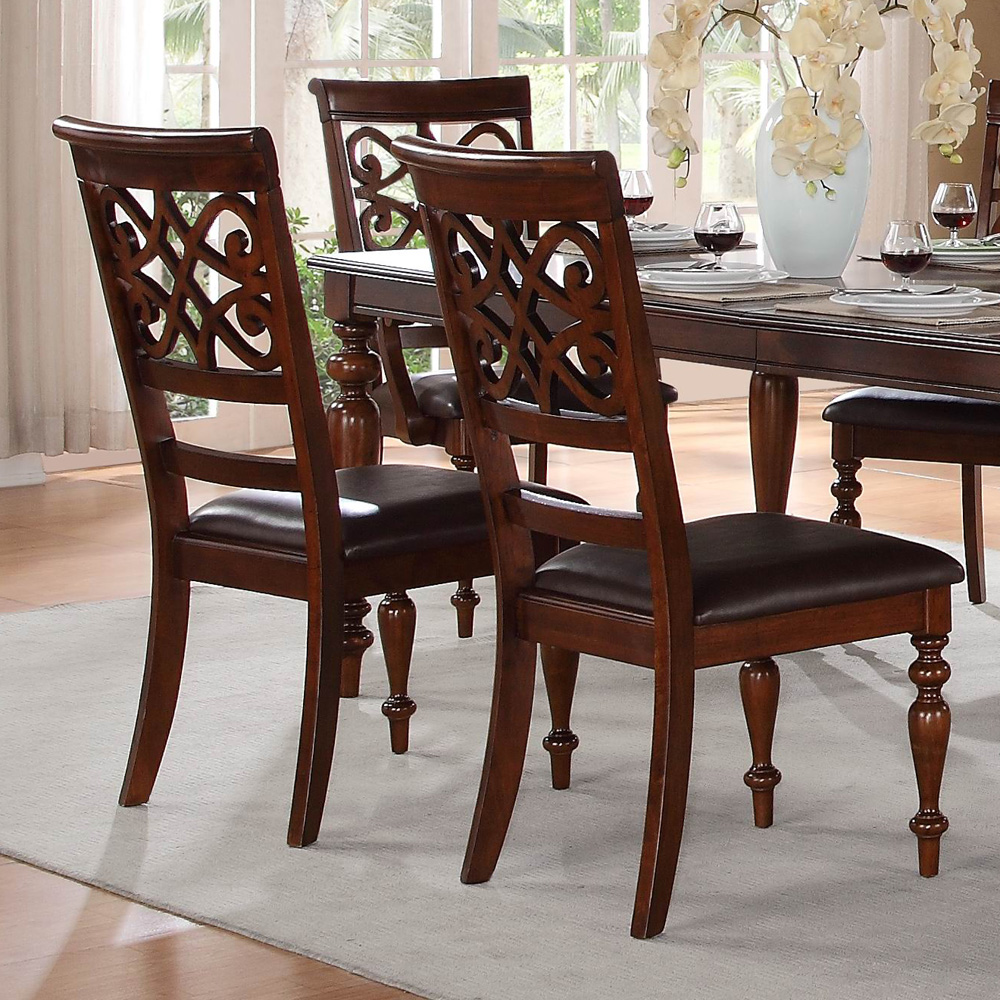 homelegance creswell 8 piece 60x42 extension dining room set in cherry