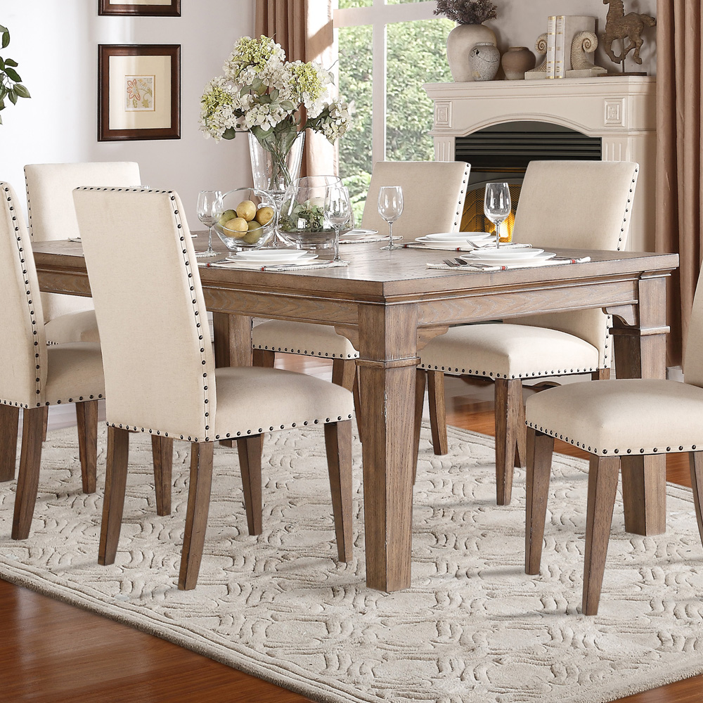 homelegance mill valley 7 piece 66x42 dining room set in