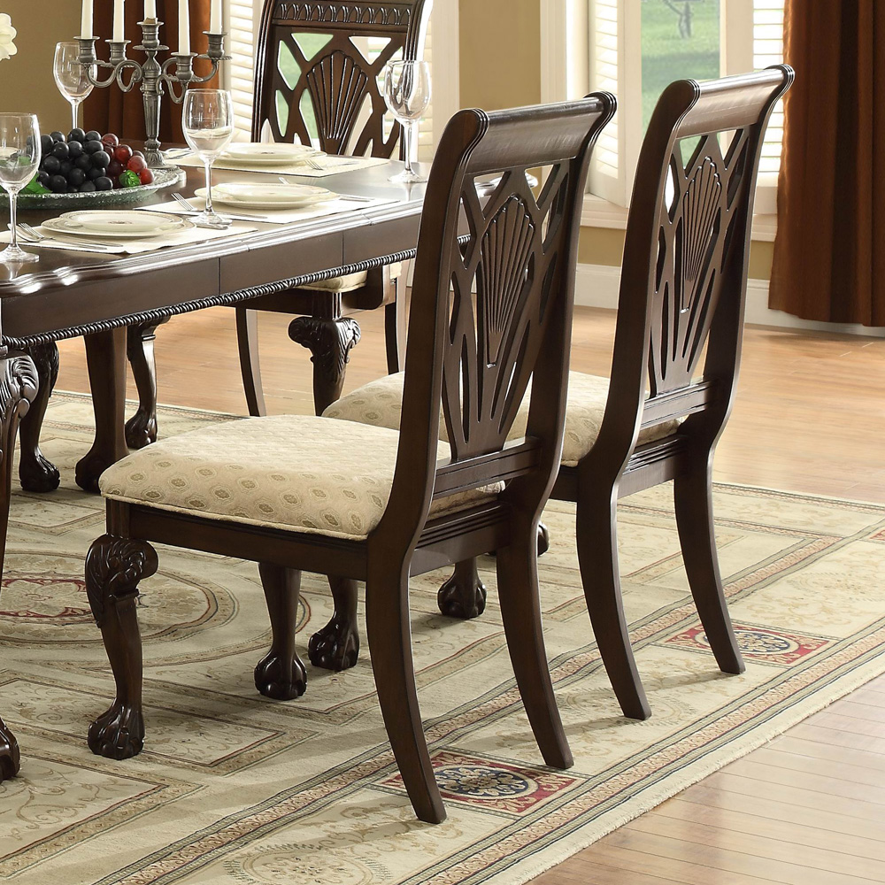 homelegance norwich 8 piece 64x42 extension dining room set in cherry