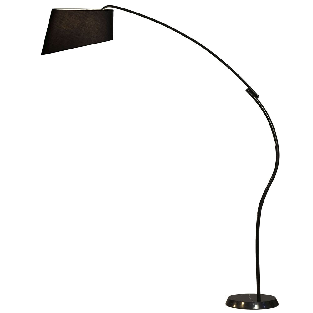 nova lighting ibis arc floor lamp in black efurniture mart. Black Bedroom Furniture Sets. Home Design Ideas