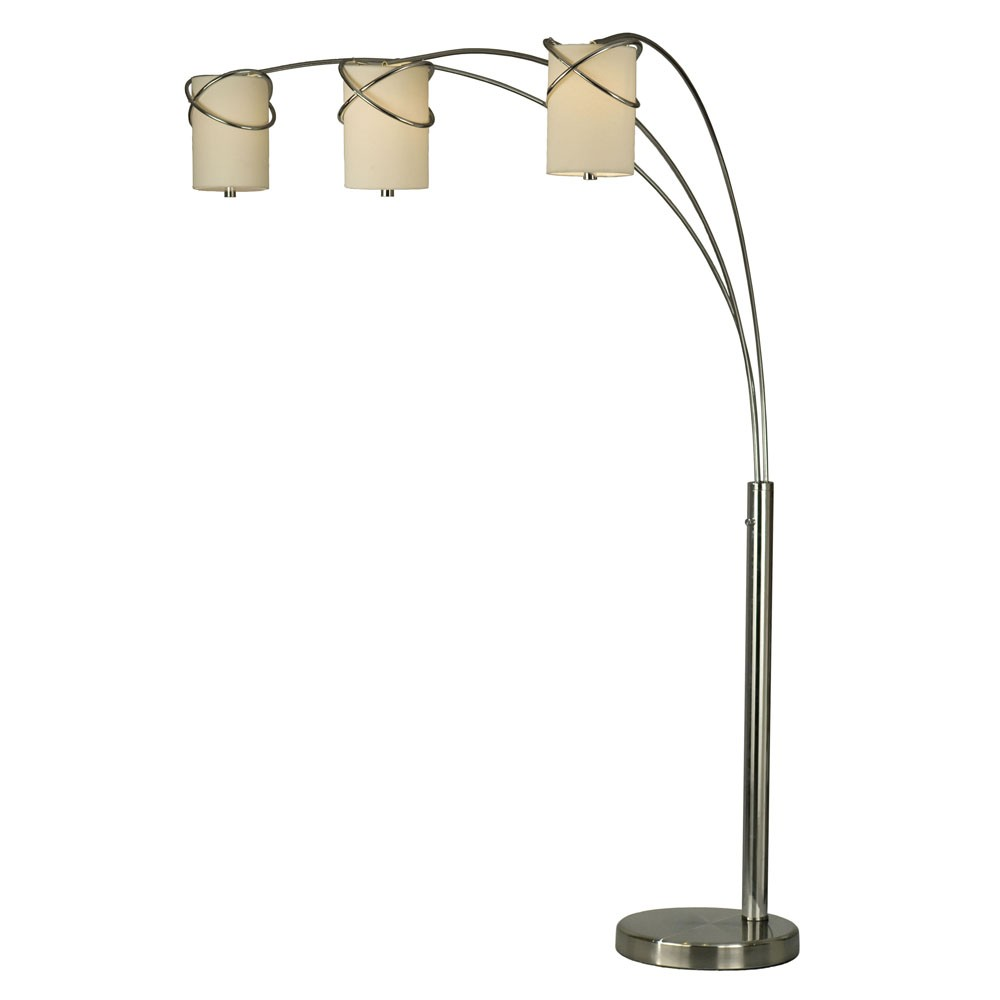 floor lamp nova lighting internal 3 light arc floor lamp efurniture - Arc Floor Lamps