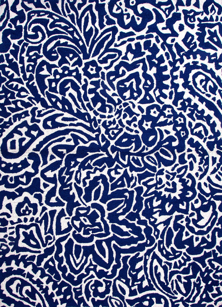 Jaipur Rugs Abstract Pattern Blue Indoor and Outdoor Rug
