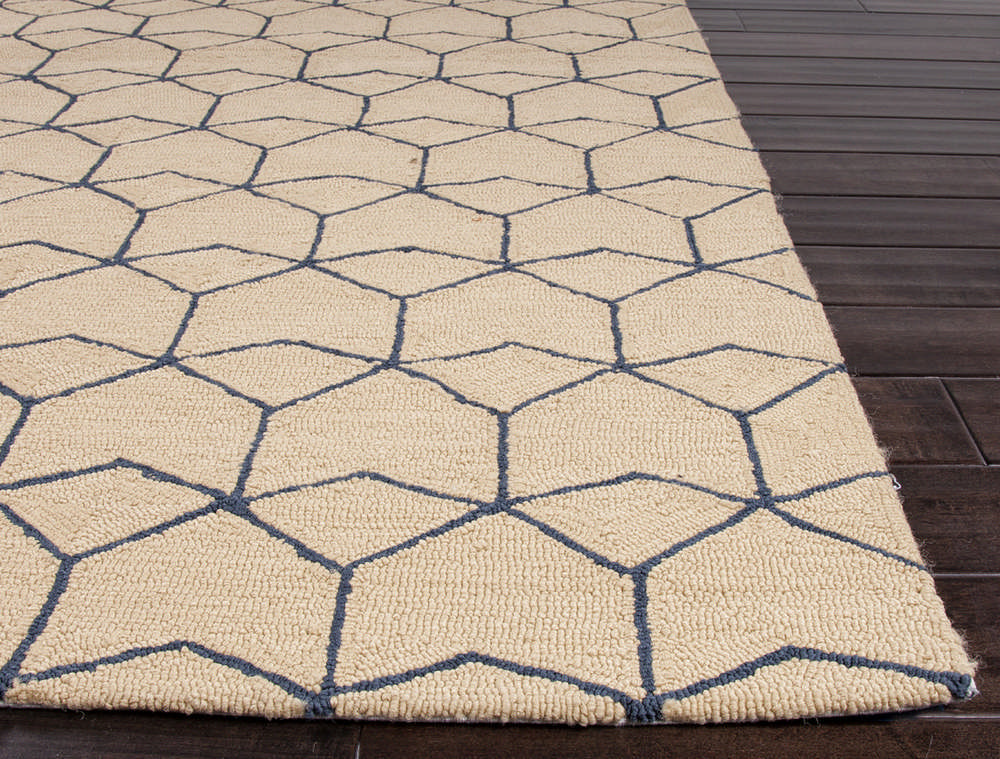 Jaipur Rugs Abstract Pattern Ivory and White Indoor and