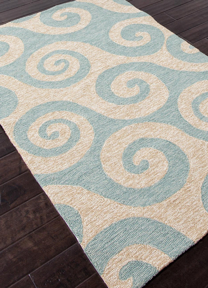 Jaipur Rugs Coastal Pattern Blue Indoor and Outdoor Round