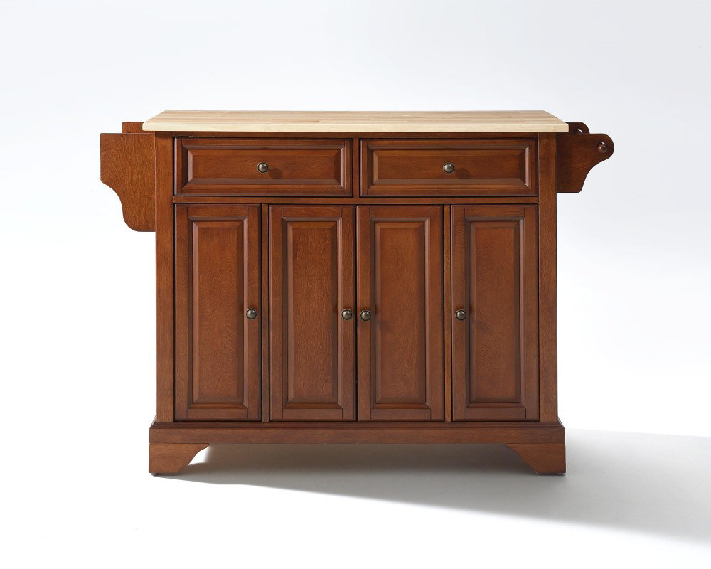 crosley furniture lafayette natural wood top kitchen cherry kitchen cabinets buying guide