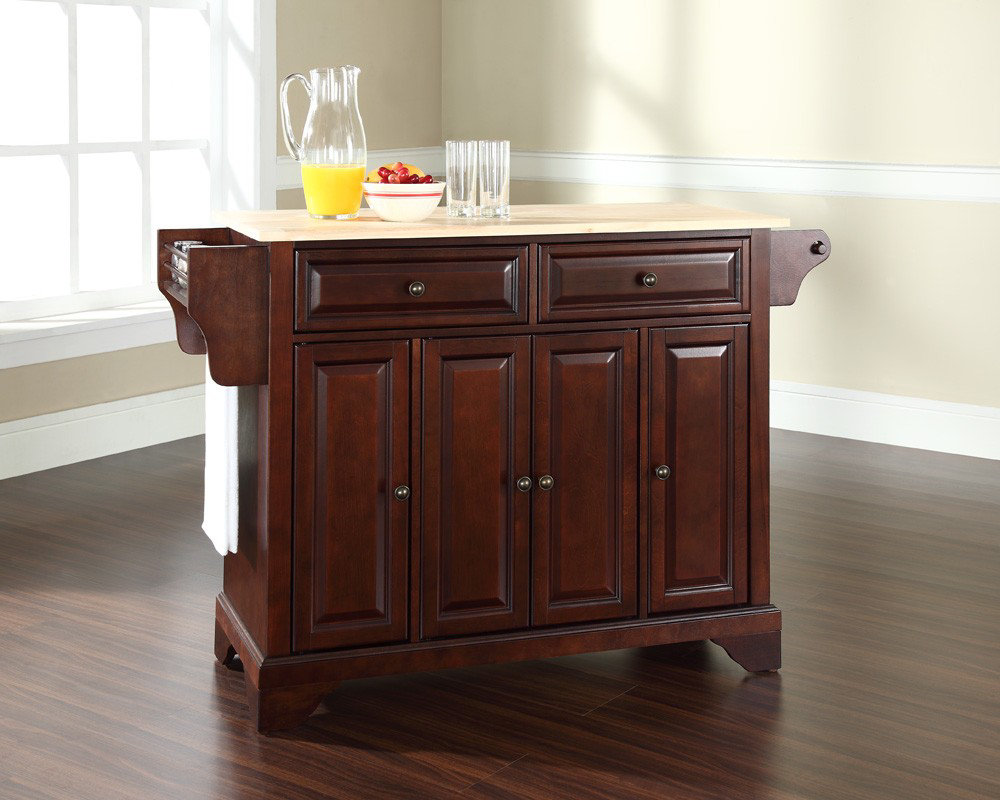 crosley furniture lafayette natural wood top kitchen