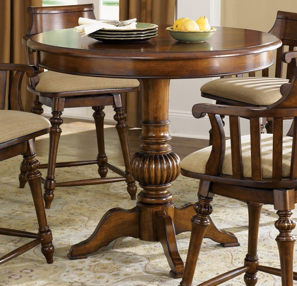 liberty furniture crystal lakes 5 piece 42 inch round pub table set w