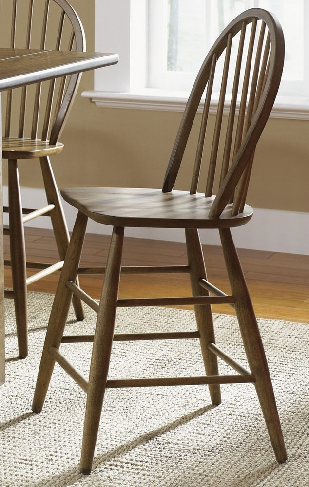 Counter Height Kitchen Stools : ... Kitchen Island w/ 4 Counter Height Stools in Oak - eFurniture Mart