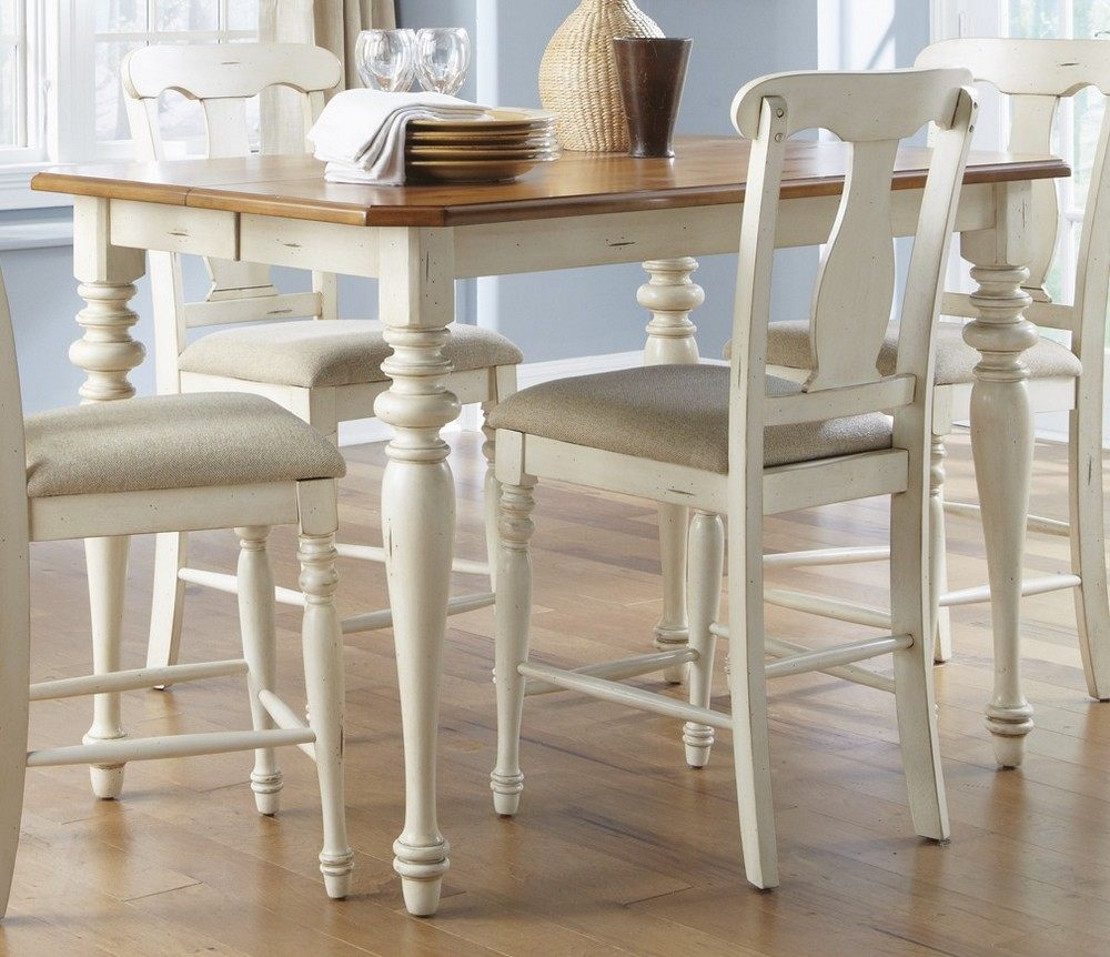 ... Counter Height Set w/ X Back Chairs in White, Light Wood - eFurniture