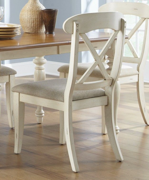 dining room set w x back side chairs and buffet in bisque white pine
