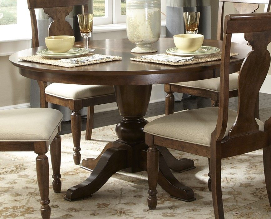 liberty furniture rustic tradition 7 piece 72x54 dining room set in