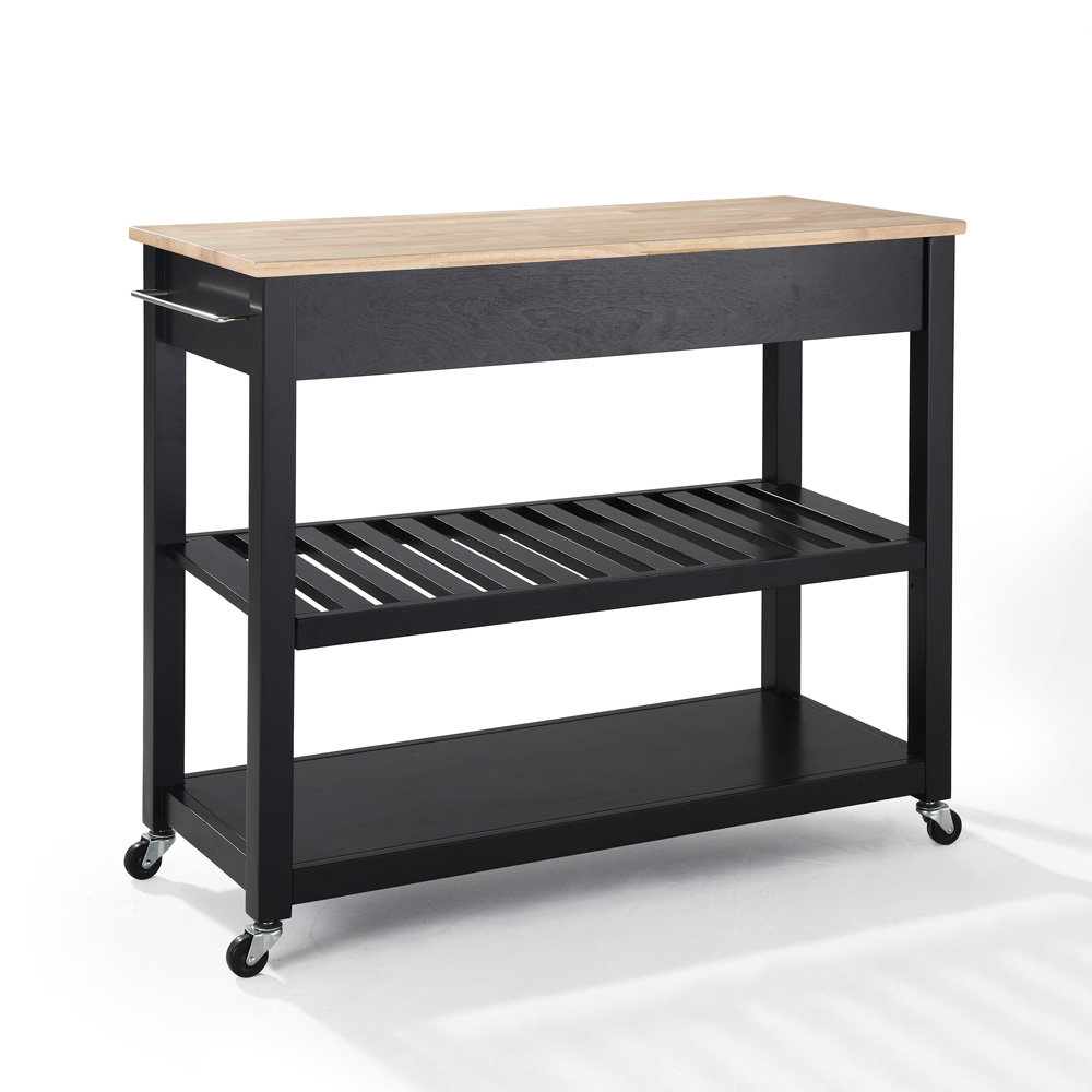 kitchen cart island w optional stool storage in black efurniture