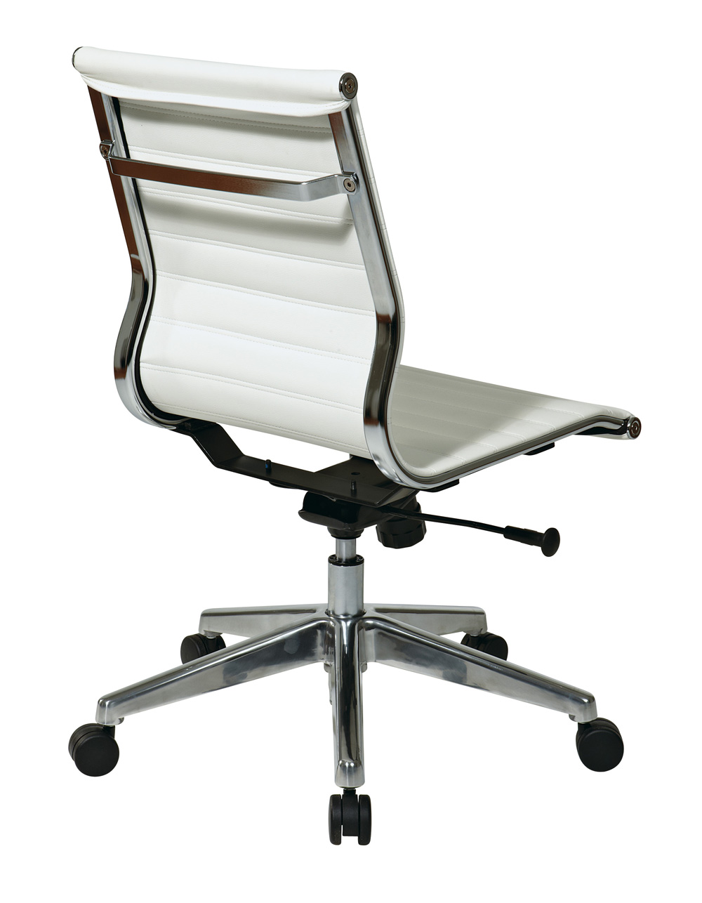 office star armless mid back white eco leather chair efurniture mart