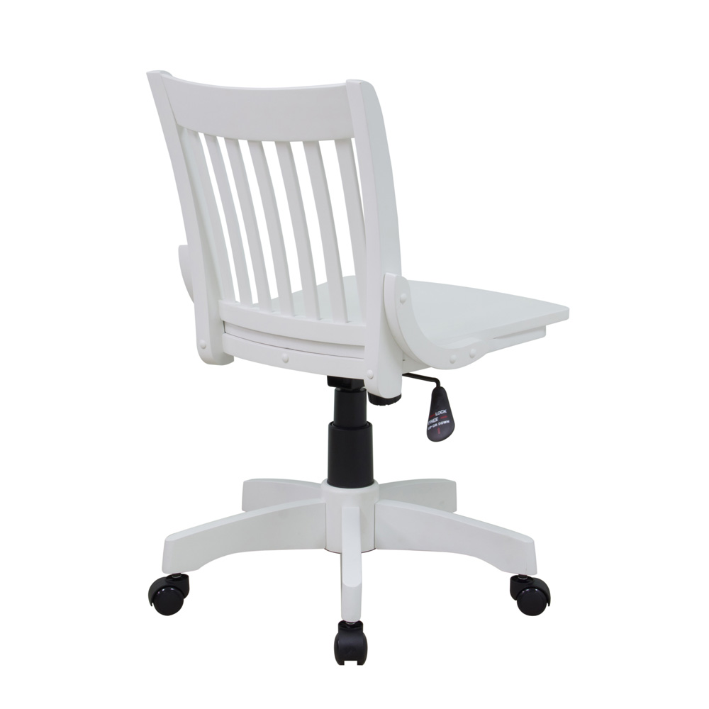 office star products deluxe armless wood bankers chair w wood seat in