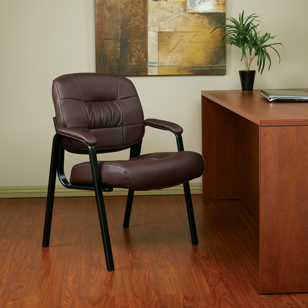 office star products eco leather visitors chair in