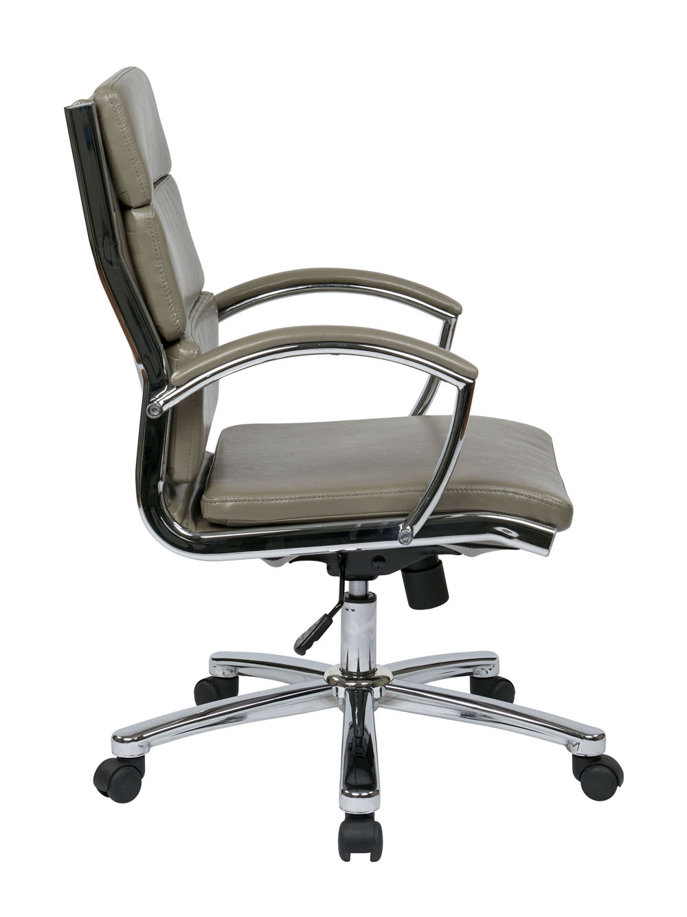 fice Star Products Mid Back Executive Smoke Faux Leather