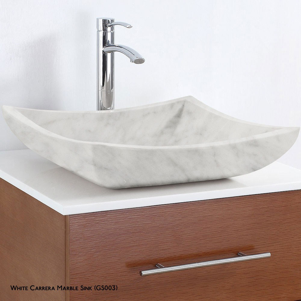 Premiere 72 Inch Ivory Marble Top Double Sink Vanity Set in White by ...