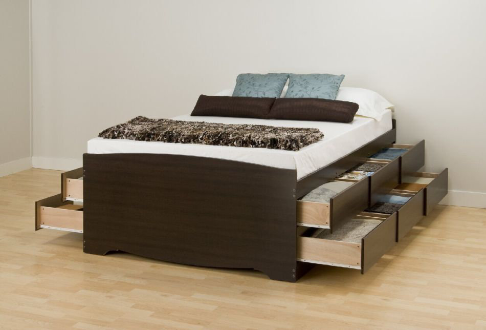 Tall Platform Beds With Storage