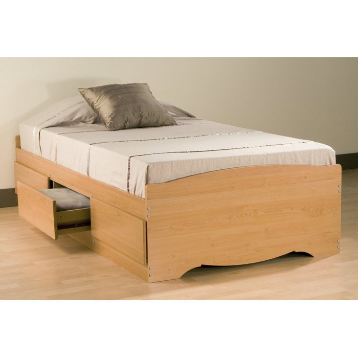 Prepac Twin Platform Storage Bed - eFurniture Mart