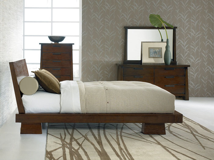 Forget Box Springs with Sitcom Furniture Hida Platform Bed