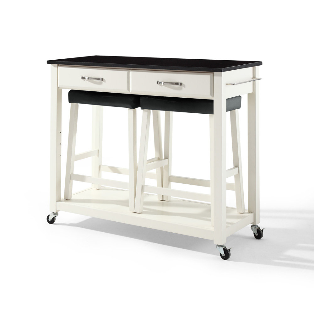 Crosley Kitchen Cart Granite Top Crosley Furniture Alexandria Solid Black Granite Top Portable