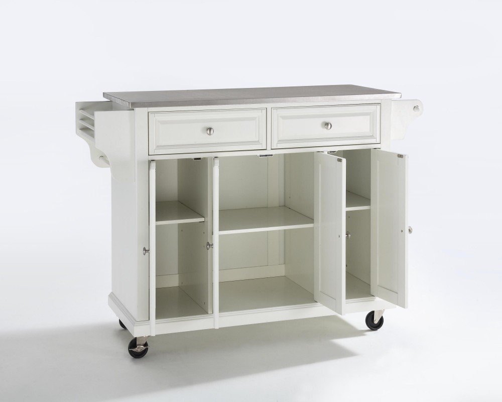 Crosley Furniture Stainless Steel Top Kitchen Cart Island