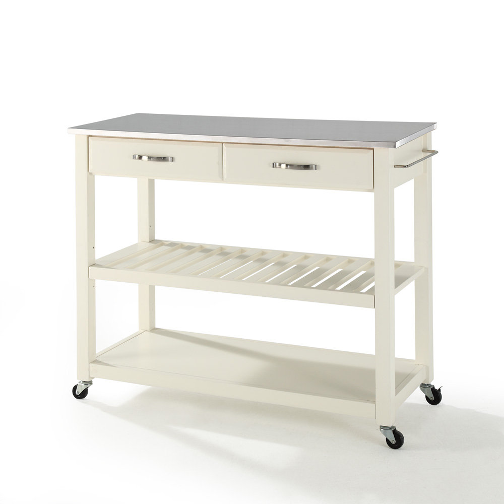 crosley furniture stainless steel top kitchen cart island crosley furniture stainless steel top kitchen cart