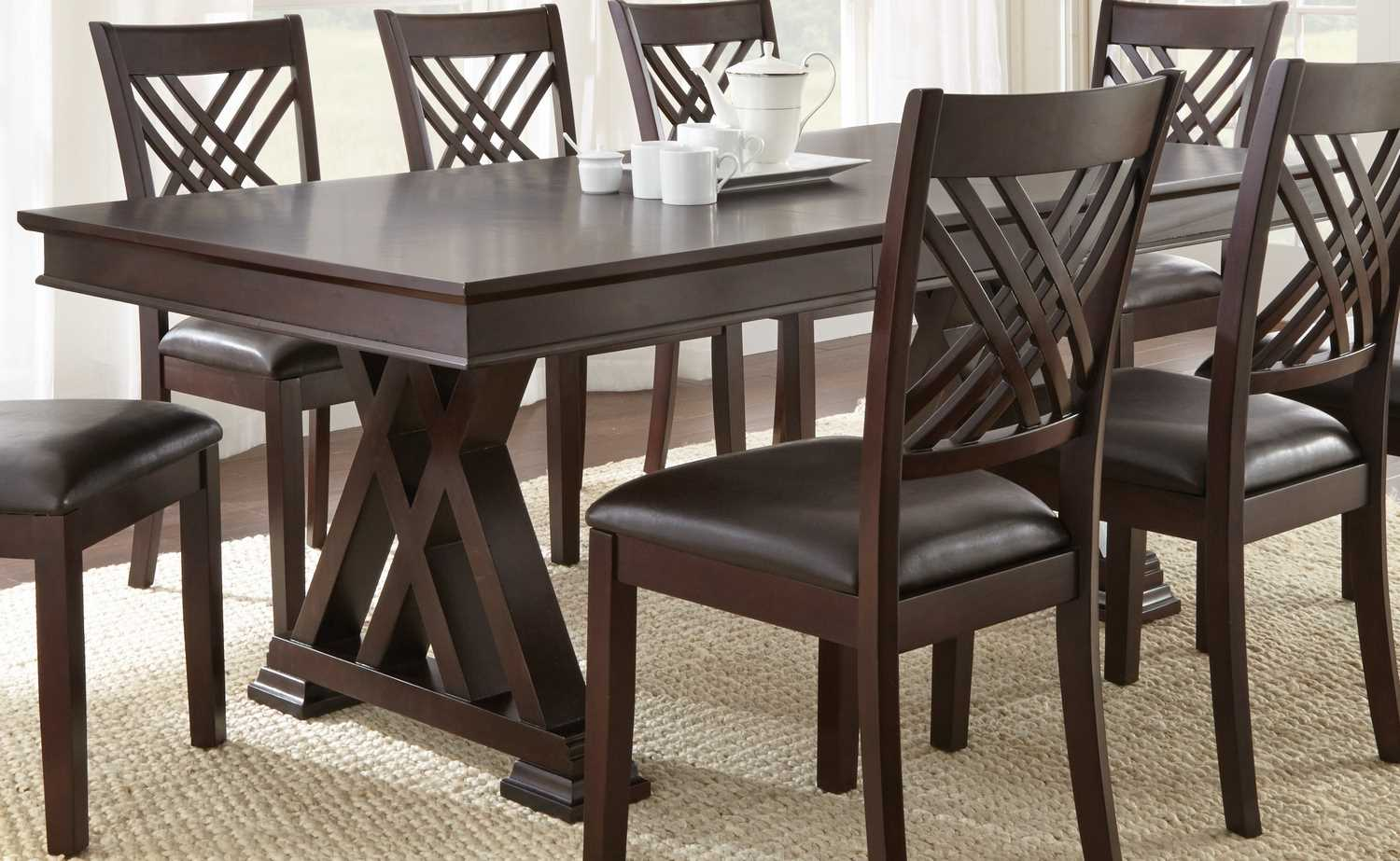 adrian 9 piece 78x42 rectangular dining room set efurniture mart