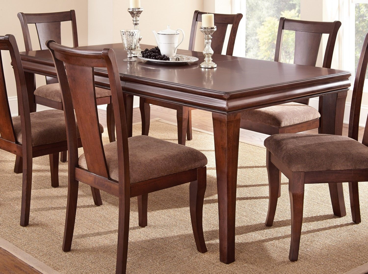 steve silver aubrey 7 piece 79x40 rectangular dining room