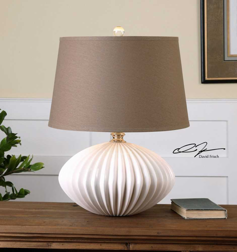 White Table Lamps : ... Bariano 25 Inch Modern Gloss White Table Lamp - eFurniture Mart