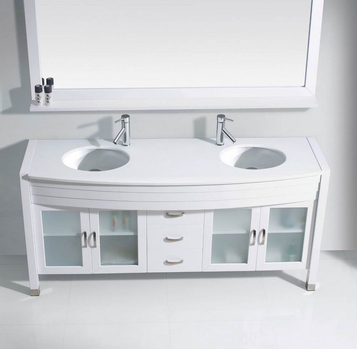 63 inch double bathroom vanity cabinet set in white efurniture mart