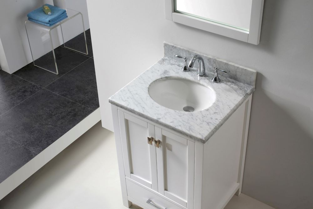 single bathroom vanity cabinet set w round basins efurniture mart