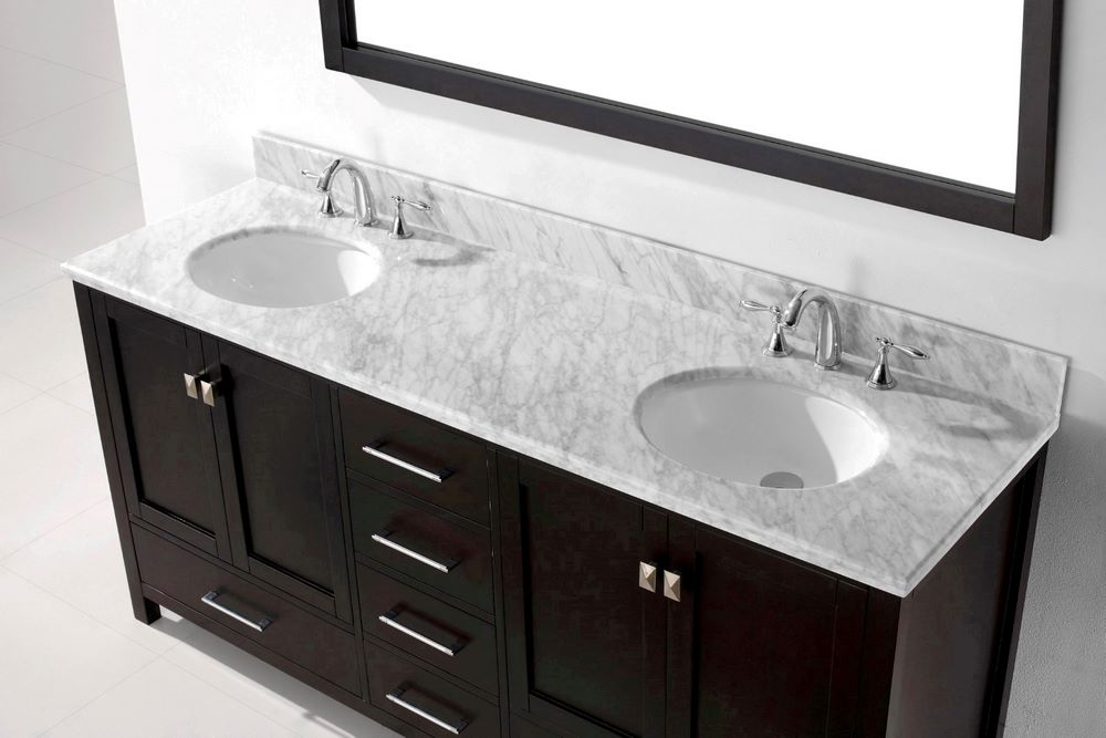 double bathroom vanity cabinet set w round basins efurniture mart
